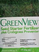 green view seed starter plus crabgrass preventer